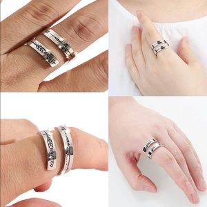 Be brave keep going on silver ring (Buy1Get1)